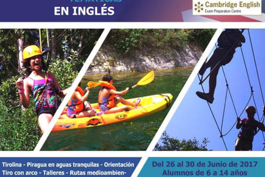 Campamentos de verano 2017 para niños en Geonatur: ¡inglés y multiaventura en Sot de Chera (Valencia)!